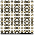 glossy web buttons collection vector image