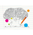 Hand Drawn Tree on Notebook Paper with Pencil and vector image