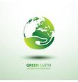 hand earth vector image