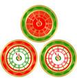 set of round clocks vector image