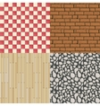 Wooden floor texture stone pattern and tiles vector image