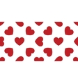seamless decorative hearts vector image