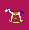 flat icon design collection kids rocking horse vector image
