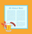 all about beer poster with tasty food and drink