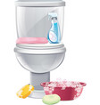 Cleaning Toilets vector image