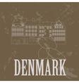 Denmark landmarks Retro styled image vector image