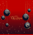 beautiful christmas decorative balls with glitter vector image