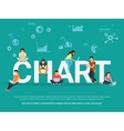 Chart concept vector image