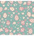 Doodle easter pattern vector image