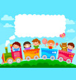 kids in a train vector image