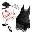 Little black dress vector image
