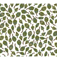 seamless pattern of green leaves vector image