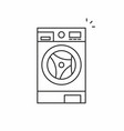 washer icon vector image