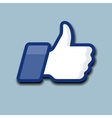 LikeThumbs Up symbol icon on a grey background vector image vector image