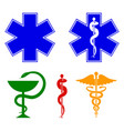 medical international symbols set star of life vector image