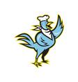 Chicken Chef Cook Standing Waving Wing vector image vector image