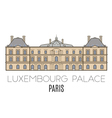 Luxembourg Palace Paris vector image