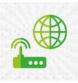 router communication design vector image