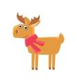 Deer Wearing A Scarf vector image
