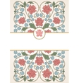Floral oriental pattern in vintage style vector image