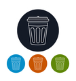 Icon dustbin vector image