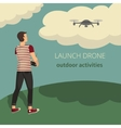 on the theme of launch drone vector image