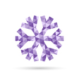 Snowflake New Year and Christmas icon of purple vector image