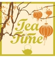 tea time from the tree branches vector image vector image