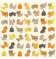 Set Of Kittens Seamless Texture vector image vector image