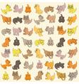 Set Of Kittens Seamless Texture vector image