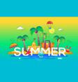 summer - line travel vector image