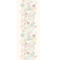 Cats among flowers vertical seamless pattern vector image vector image