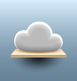 Cloud on the shelf vector