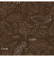 Seamless pattern with coffee and cocoa elements on vector image