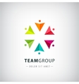 teamwork logo social net people together vector image