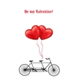 Bicycle and heart balloons background vector image