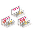 bicycle online 3d isometric vector image