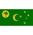 Cocos Islands paper flag vector image