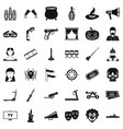 film icons set simle style vector image