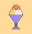 ice cream kawaii character cartoon sweet cute vector image