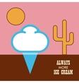 Icon ice cream isolated on white background vector image