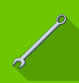 nut wrenchcar single icon in flat style vector image