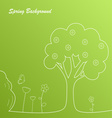 Simple green spring background template vector image