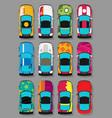 super sports cars set vector image