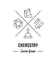 website banner and landing page of chemistry vector image