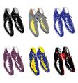 Male shoes set vector image