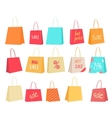 Set of Paper Bags with Text Sale Percentage Price vector image