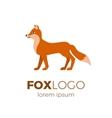 Flat fox logo vector image