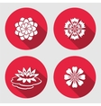 Flower icons set Lily blue poppy chamomile vector image