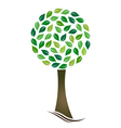 Tree with circled leaves vector image